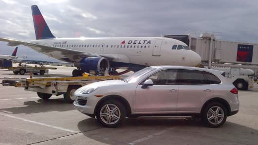 Delta Airlines is now offering VIP Porsche gate to gate service in select cities.