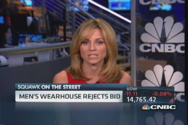 Men's Wearhouse: Uh, no thanks Joseph A. Bank