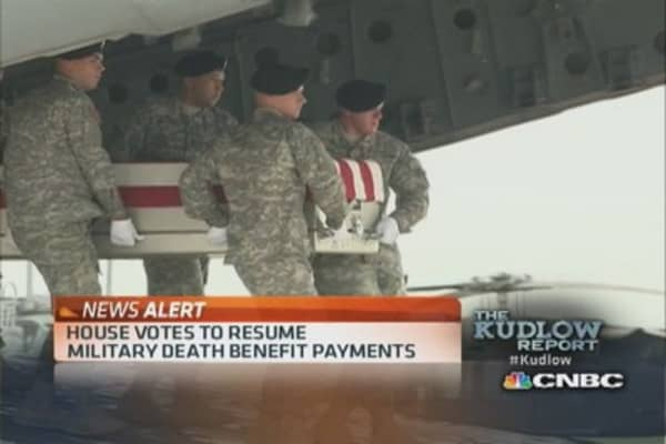 House votes on Military death benefit payments