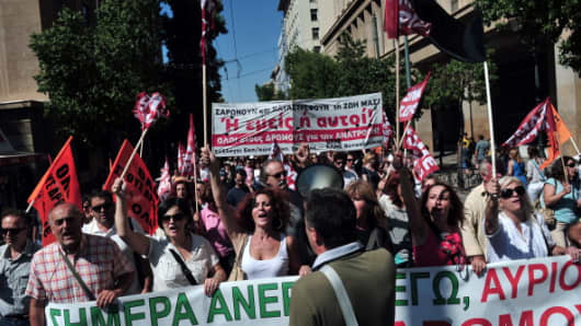Greek teachers strike