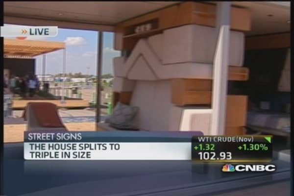 Solar-powered homes compete