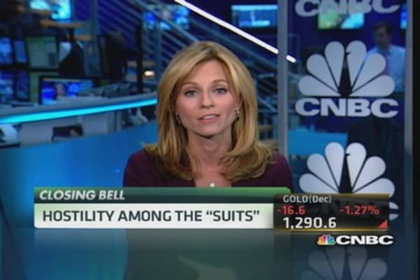 Hostility among the 'suits'