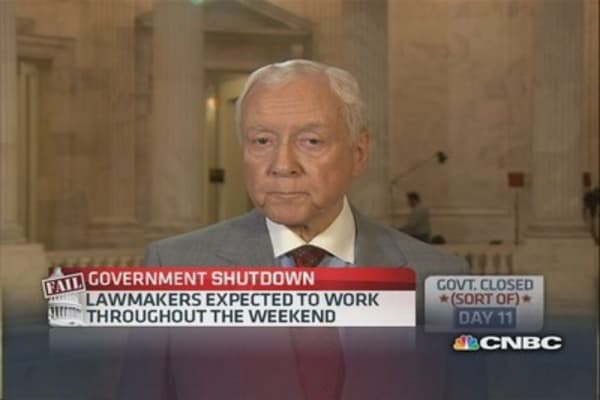 Democrats have had enough tax revenue: Sen. Hatch