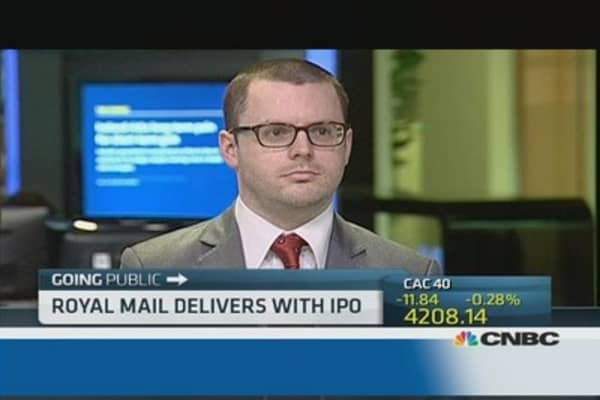 Royal Mail shares soar after IPO
