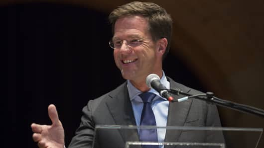 Prime Minister Mark Rutte of The Netherlands