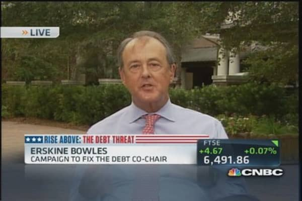 Why people are yelling at Erskine Bowles to 'stop the madness'