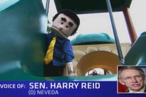 Bickering politicians turn into puppets