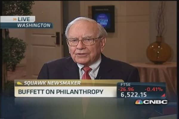 'Philanthropy is tougher than business': Buffett