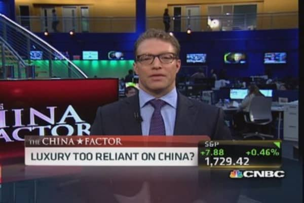 Luxury too reliant on China?
