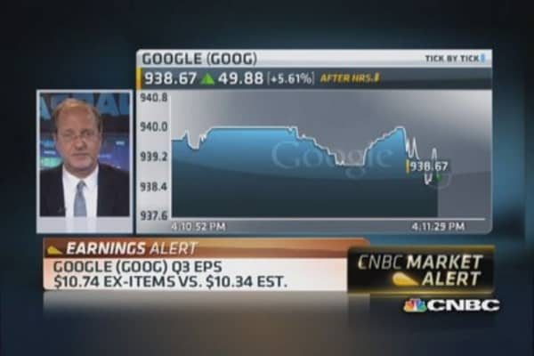 Google beats top and bottom line estimates