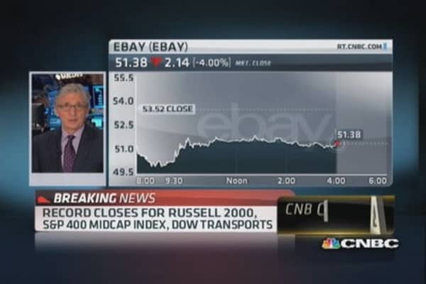 Weak revenues drag Dow down: Pisani