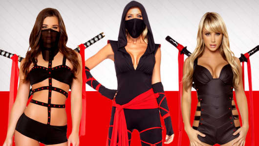 Ninja halloween costumes on Yandy.com