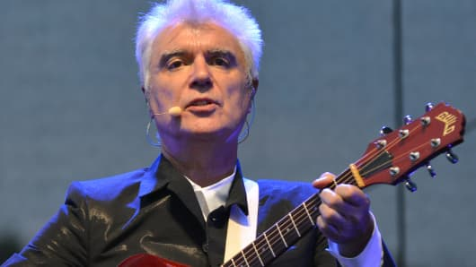 David Byrne performs during the 2013 Bonnaroo Music & Arts Festival on June 16, 2013 in Manchester, Tennessee.