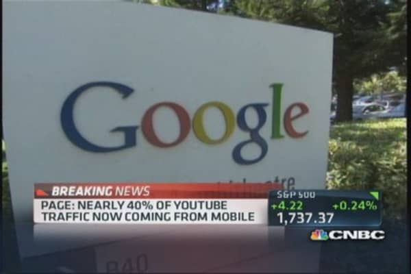 Google's paid clicks up 26%