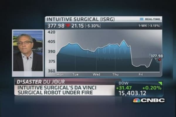 Intuitive Surgical: Robotics under fire