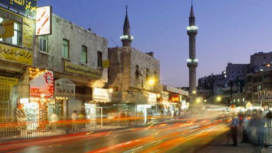 Street scene in Amman, Jordan