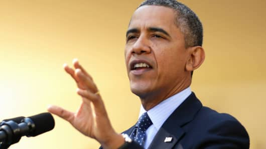President Barack Obama delivers remarks about the error-plagued launch of the Affordable Care Act's online enrollment website at the White House on Monday.