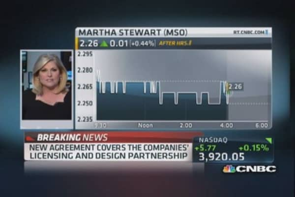 New agreement for JCP and Martha Stewart