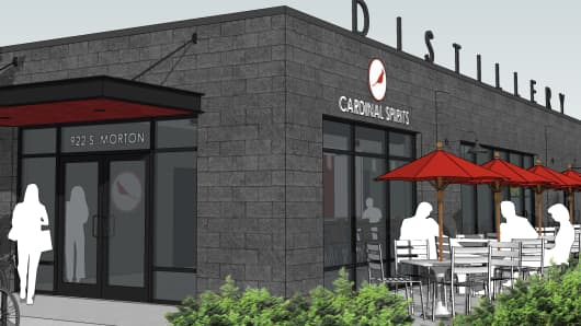 Artist rendering of Cardinal Spirits Distillery