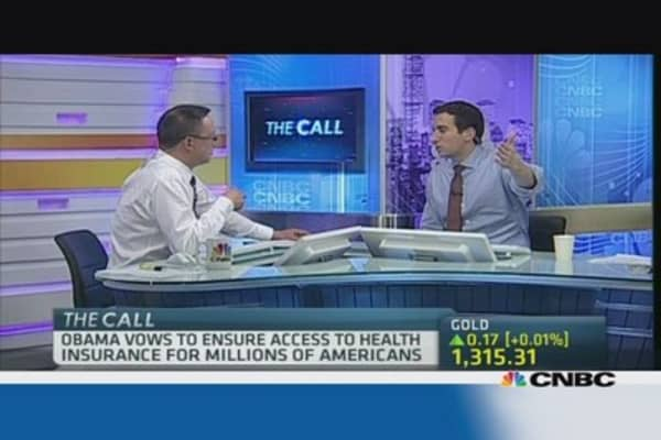 CNBC anchors squabble over Obamacare