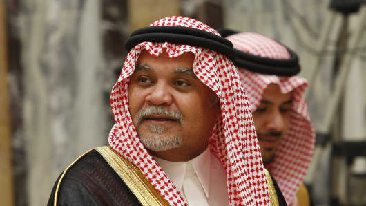 Saudi Arabia's intelligence chief, Prince Bandar bin Sultan.
