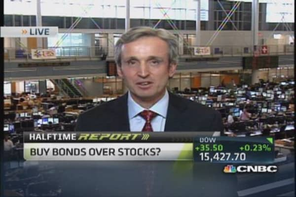 Buy bonds over stocks?