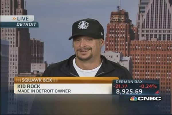 Kid Rock:  No city with more style than Detroit
