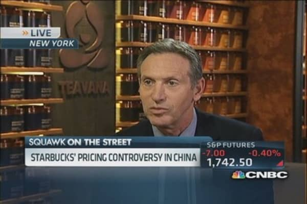 Starbucks CEO: Chinese understand why we charge more