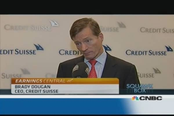 Stress tests could instil confidence: Credit Suisse CEO