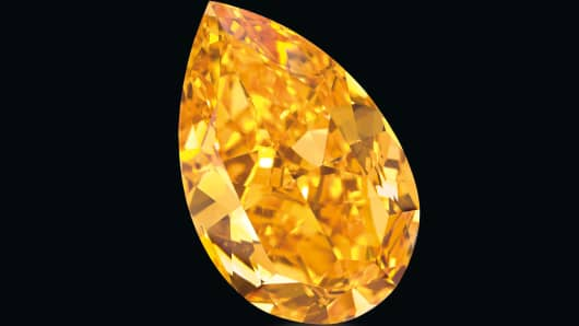 The world's largest known orange diamond.
