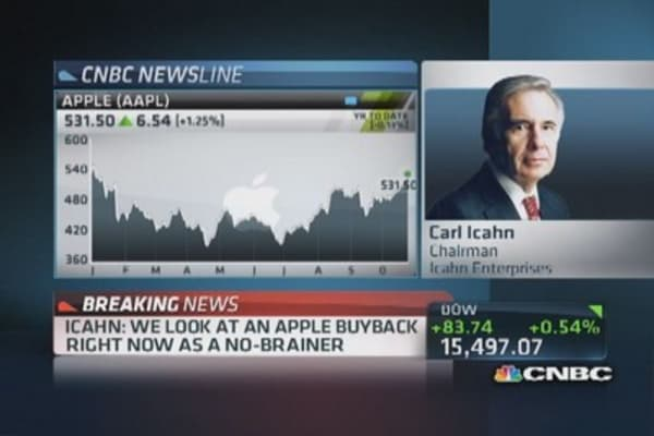 Icahn: Big Apple buyback is