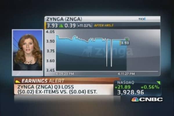 Zynga reports Q3 earnings