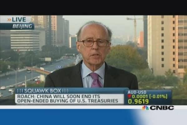 China will slow US Treasury buying: Stephen Roach