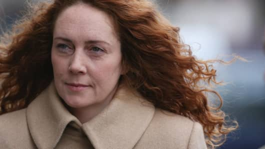 Rebekah Brooks, former head of News International, arrives at the Old Bailey in London in September 2012 for a preliminary hearing.