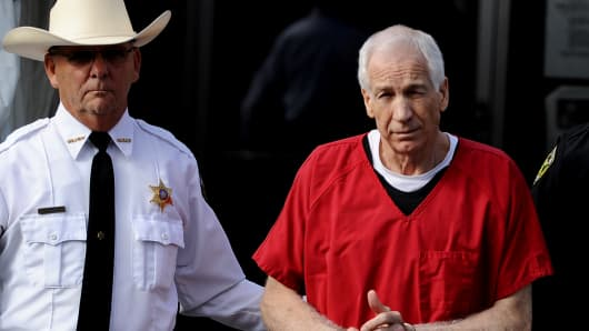 Former Penn State assistant football coach Jerry Sandusky.