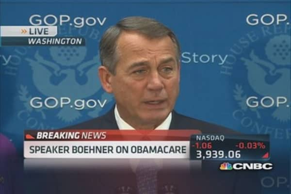 Boehner: Obamacare 'wet blanket' on US economy