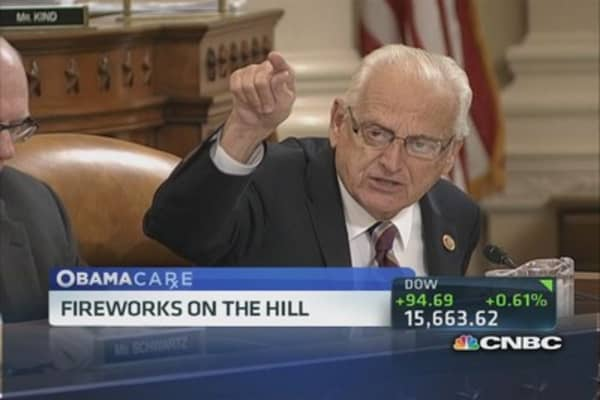 Rep. Pascrell's 'testy exchange' over Obamacare