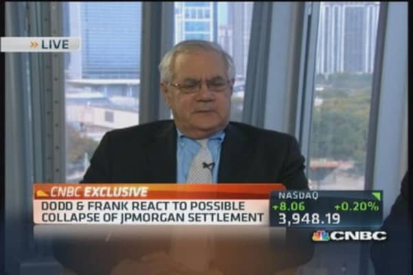 Frank: JPMorgan argument is 'wrong'