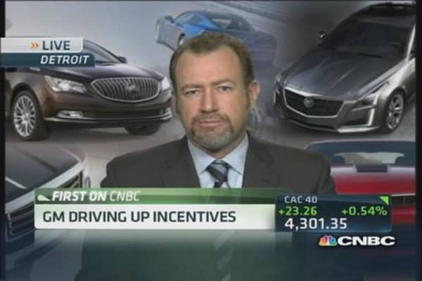 GM driving up incentives