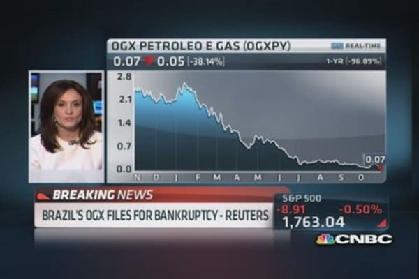 Brazil's OGX files for bankruptcy