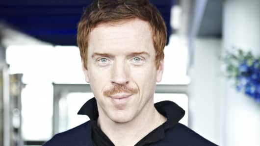 Homeland actor Damian Lewis during Movember 2012