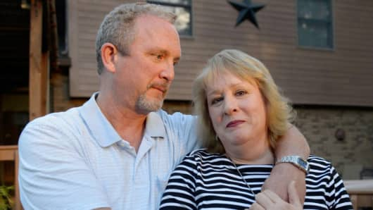 Kristine and Mark Jockel are living frugally amid a weak jobs recovery.