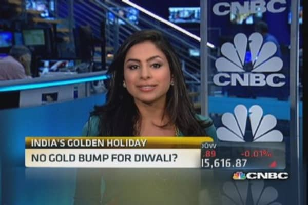 No gold bump for Diwali?