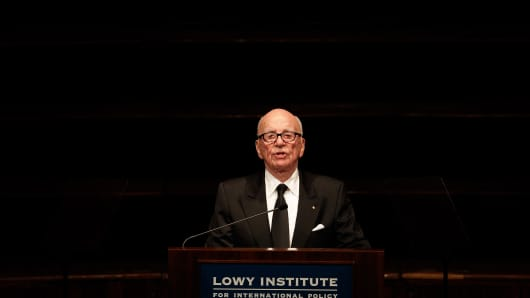 Rupert Murdoch, chairman and chief executive officer of News Corp, Oct 31, 2013