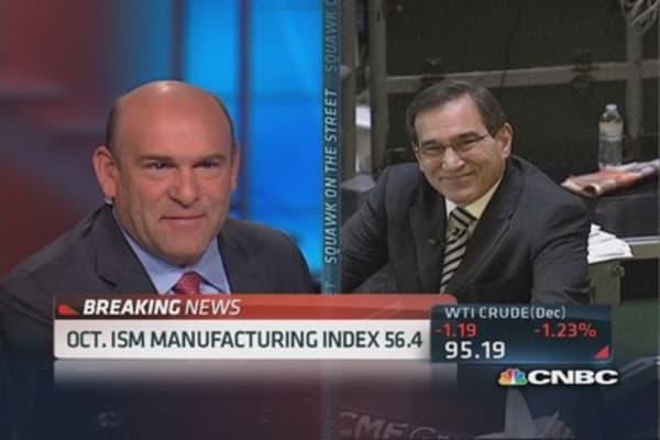 Santelli: October ISM hits 56.4