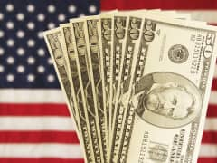 American flag money