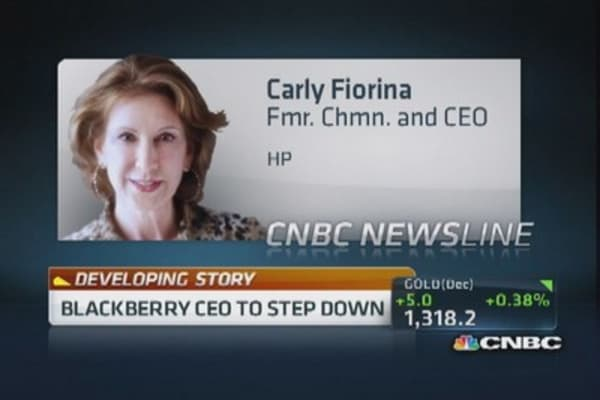 BlackBerry has run out of time: Former HP CEO
