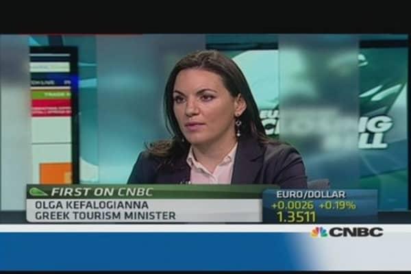 Tourism will help Greece rebound: Minister