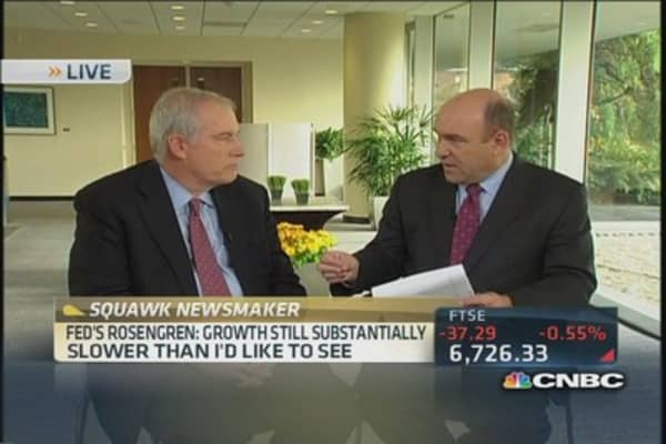 Fed's Rosengren: Growth slower than I like