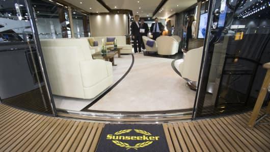 A yacht made by Sunseeker International.